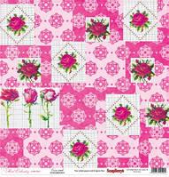 Бумага Цветочная вышивка, Вышивка крестом, 30х30, фото 1
