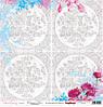 Бумага Цветочная вышивка, Схема для вышивки, 30х30