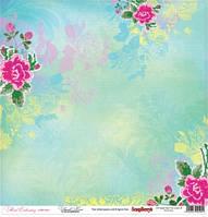 Бумага Цветочная вышивка, Французский узел, 30х30, фото 1