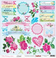 Бумага Цветочная вышивка, Мережка, 30х30, фото 1