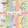 Набор бумаги С Днем Рождения 24л. 15х15