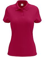 Женская футболка-поло малиновая