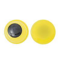 Глазки желтые, круглые, 12.0 мм, 5 пар
