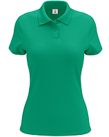 Женская футболка-поло ментолового цвета