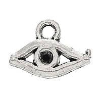 Металлическая подвеска Глаз, 10х8 мм