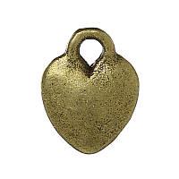 Металлическая подвеска Сердце, 10х8 мм, фото 1