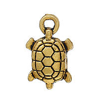 Металлическая подвеска Черепаха, 15х9 мм, фото 1
