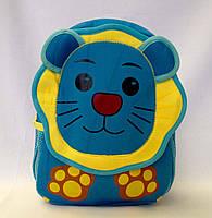 """Рюкзак игрушка детский мягкий"""" Львёнок """" из неопрена для школы,детсада,в поездку"""