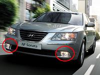 Противотуманные фары Hyundai Sonata NF с 2010- / Производитель DLAA