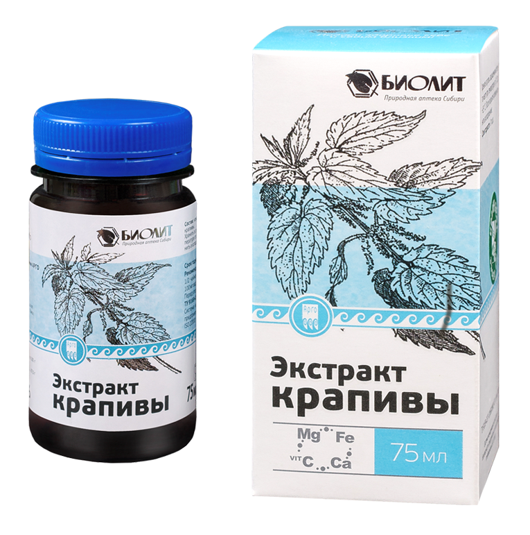 Экстракт крапивы - одно из растений, богатых витаминами, микро- и макроэлементами - Интернет-магазин здоровья и красоты АПИФАРМ в Киеве