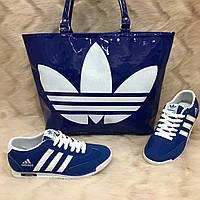 Ярко синяя сумочка adidas