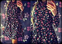 Женское весеннее платье с цветочками