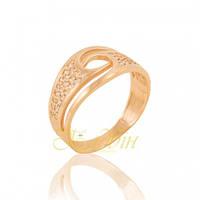 Кольцо золотое широкое с фианитами КП1673