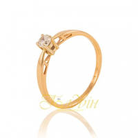 Золотое кольцо с фианитом. КП23