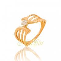 Золотое кольцо с фианитами помолвочное КП1635