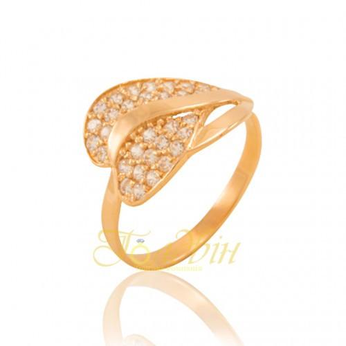 Золотое кольцо с фианитами. КП1647