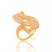 Золотое кольцо с фианитами КП1239