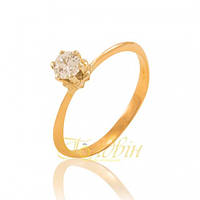 Золотое кольцо с фианитом. П1179