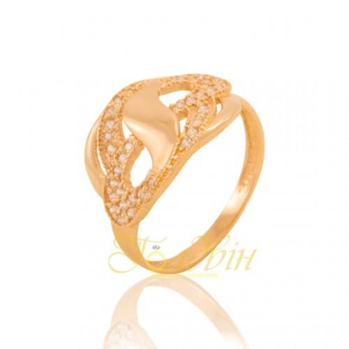 Золотое кольцо с фианитами. КП1645
