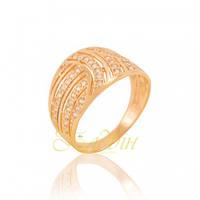 Золотое кольцо с фианитами КП1668