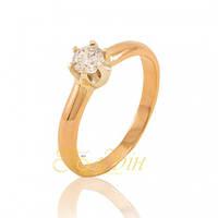 Золотое кольцо с фианитами. КП1433