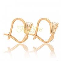 Золотые серьги с фианитами. СП02