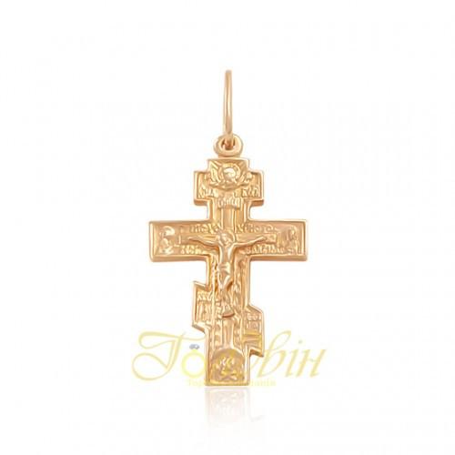 Золотой детский крестик. П327