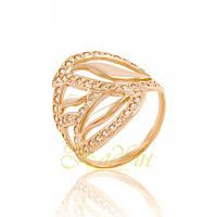 Золотое кольцо с фианитами. КП1493