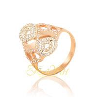 Золотое кольцо с фианитами. КП1623