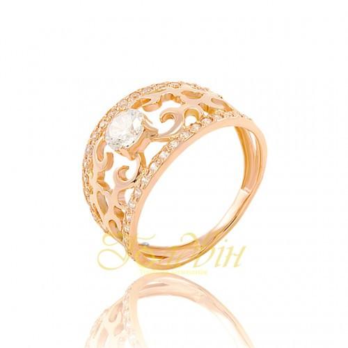 Золотое кольцо с фианитом. КП1659