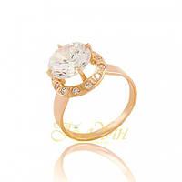 Золотое кольцо с фианитами. КП1476