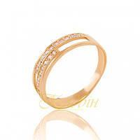 Золотое кольцо с фианитами. КП1679