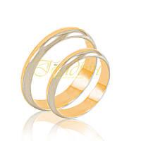 Обручальные кольца красного и белого золота. КП1008