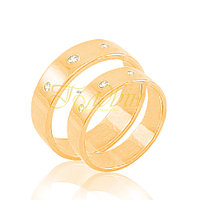 Обручальные кольца американка с камнями КПв1004