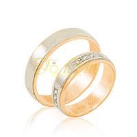 Обручальные кольца с фианитами. КП1011