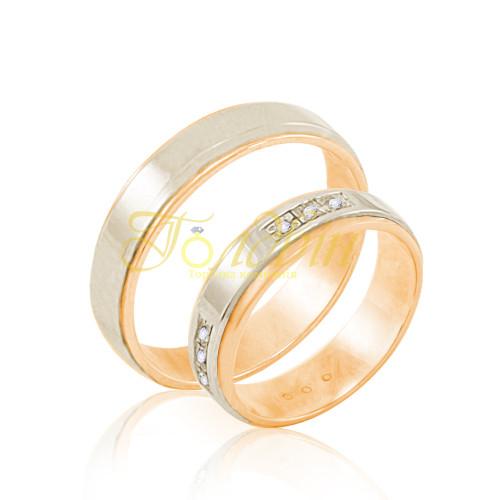 Обручальные кольца с фианитами. КП1011 b50be00414581