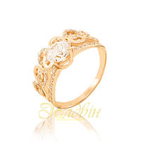 Золотое кольцо с фианитами. КП1694