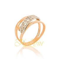 Золотое кольцо с алмазной гранью КП10275А