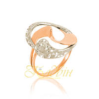 Золотое кольцо с алмазной гранью КП10274А