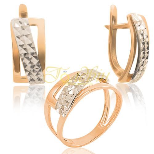 Ювелирный набор с алмазной гранью П10