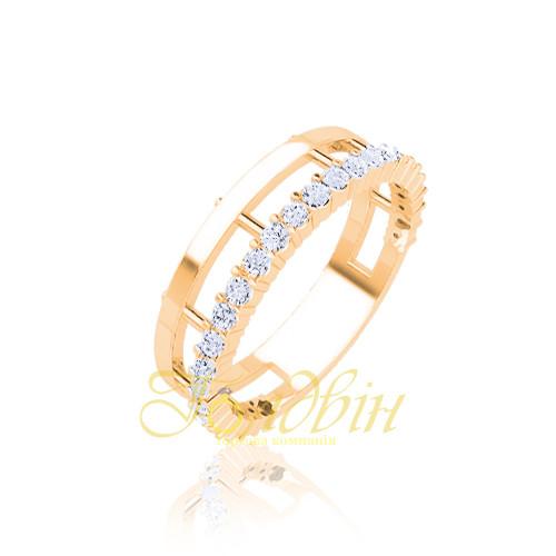 Золотое кольцо с фианитами. ГП21085