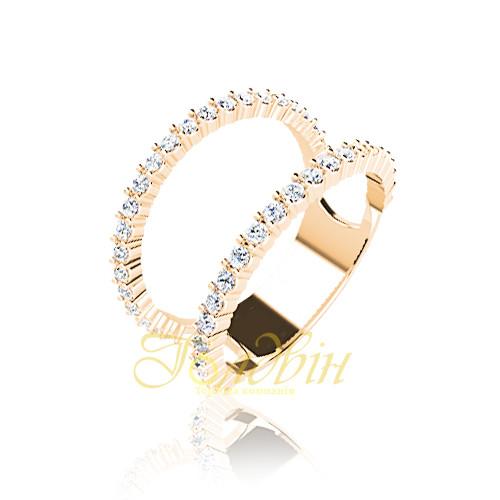 Золотое кольцо с фианитами. ГП10420