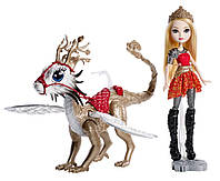 Ever After High Dragon Games Doll - Apple White with Dragon Rider