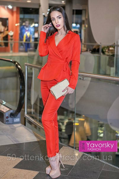 59dce6726fe Женский красивый брючный костюм (4 цвета)  продажа