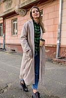 Женское пальто серого цвета длина миди