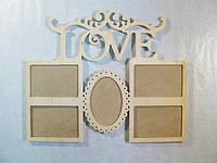"""Коллаж """"LOVE"""" для фото 10х15, 48х39 см"""