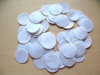 Фетровая заготовка круг белый d 4 см.,  (50 шт)