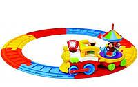 Цирковой поезд kiddieland с каруселью