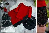 Жіночий стильний костюмчик з мереживом (3 кольори), фото 3
