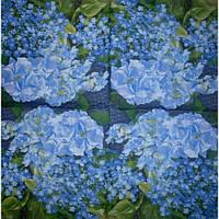 Салфетка для декупажа Гортензия синяя, 30х30 см